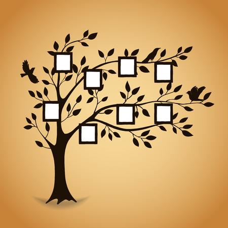 Albero genealogico con cornici per foto