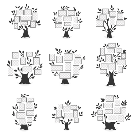 Family trees with photo frames.