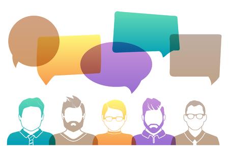 Women team avatar profile picture set. Businessman, coworkers, team, think, Question. Idea, Brainstorm Business concept vector illustration
