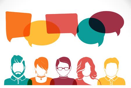 Men and women avatar profile picture set. Businessman, coworkers, team, think, Question. Idea, Brainstorm Business concept vector illustration Illustration