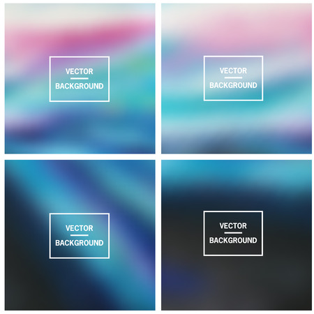 Abstract colorful blurred vector backgrounds. Elements for your website or presentation. Vektoros illusztráció