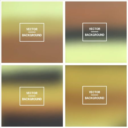 Abstract colorful blurred vector backgrounds. Elements for your website or presentation. Vector Illustratie