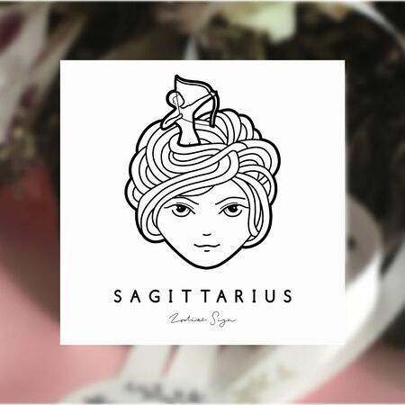 Vector illustration of a girl with beautiful hair. Zodiac sign, prediction, future, astrology. Fortune telling and magic in the universe.