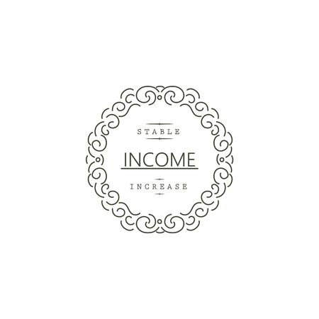 Business. Stable income increase. Sign and symbol Foto de archivo - 135500905