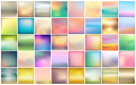 Abstract colorful blurred vector background. Element for your website or presentation. Blue yellow green and pink color.