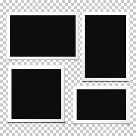 Set of vector photo frames. Illustration