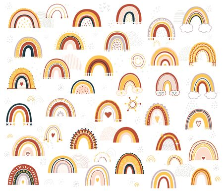 Baby rainbow Illustration.