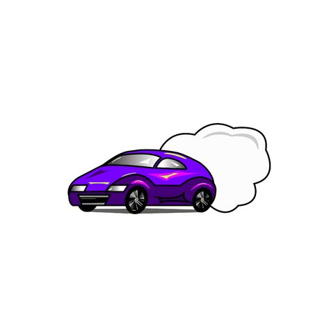 car - illustration, vector, isolate, Sticker
