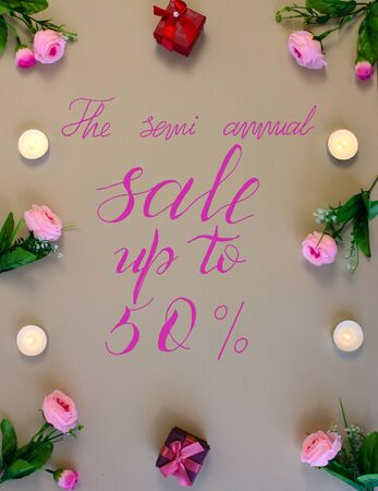 the announcement of the semi-annual sales and discounts of 50 percent
