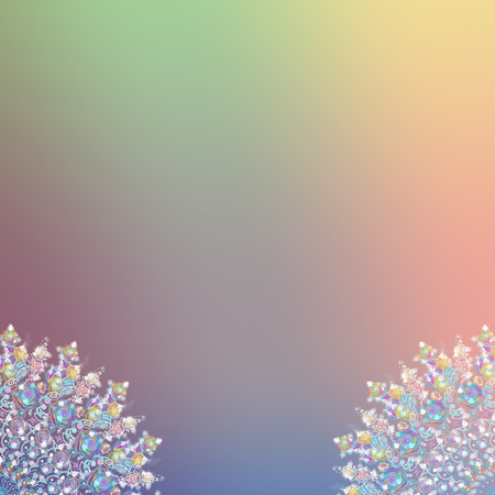 Background with snowflakes for Christmas and new year. Digital  Illustrations of snowflakes for a background. Copy space Happy new year, Christmas decoration copy space