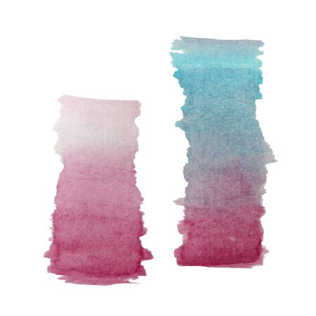 gradient blue pink watercolor paint