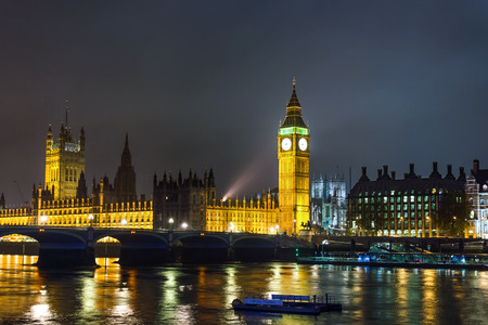 Big Ben and Houses of Parliament at night, London