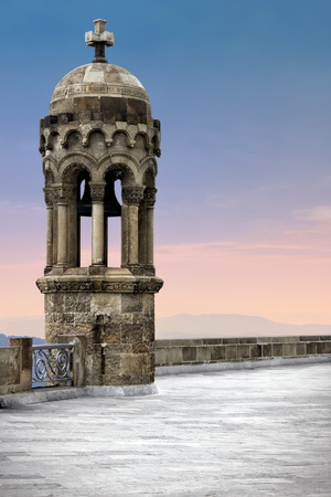 tibidabo: Bell tower on top of Tibidabo mountain  Barcelona