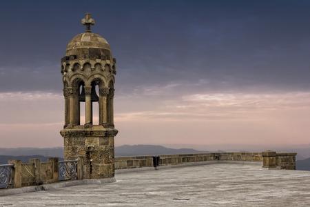tibidabo: Bell tower on top of Tibidabo mountain