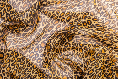 fabric with leopard print for clothes ,ginger Stock Photo