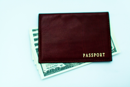 Money in the passport Stock Photo