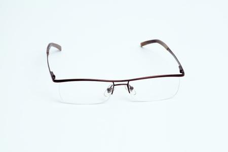 Eyeglasses on a white background