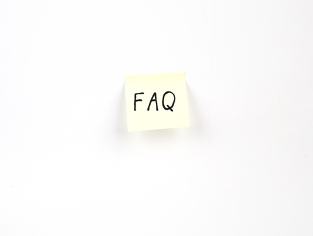 FAQ on a post-it note