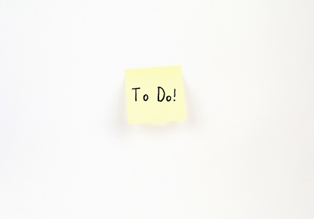 To Do! on a post-it note