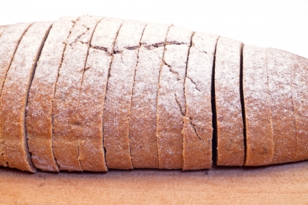 Bread with a few slices Stock Photo