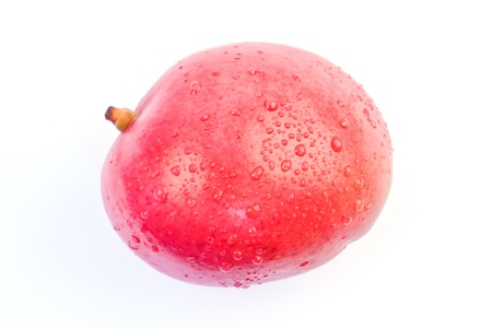 Freshness red mango on white background