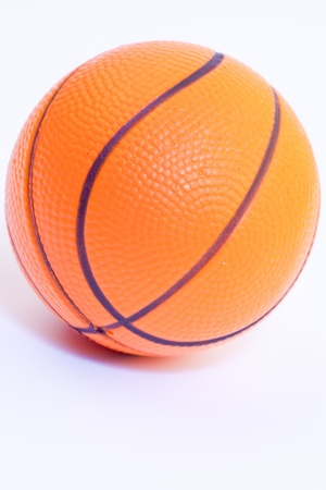 Orange basketball isolated on the white