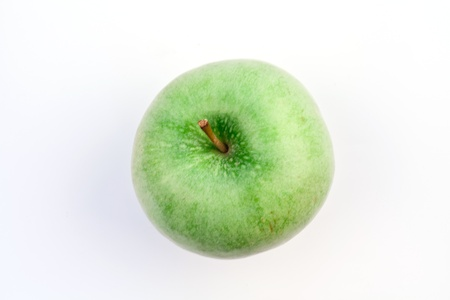 green apple on white Stock Photo