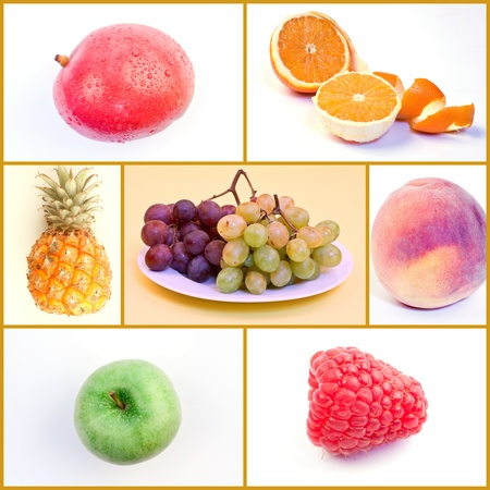 Fruit Food Collage Stock Photo