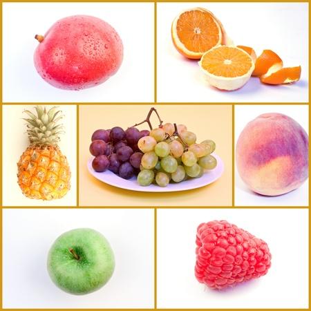 Fruit Food Collage Stock Photo