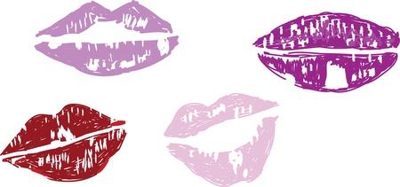 lips kiss: lips kiss print