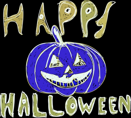 Happy Halloween pumpkln sketch