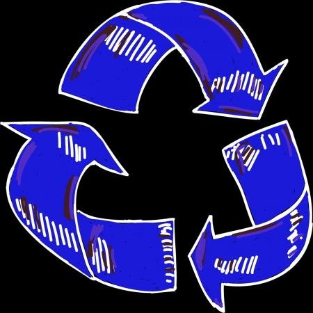 el s�mbolo de reciclaje Foto de archivo