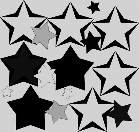 Star  collection Stock Photo