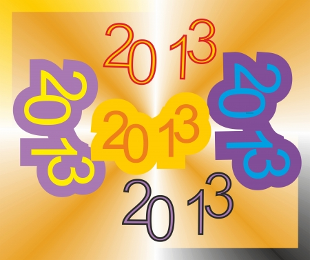 Happy New Year 2013 Vectores