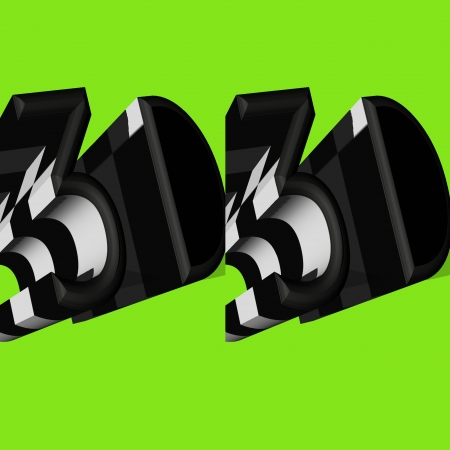 stereoscope: 3D Word Symbol  Stock Photo