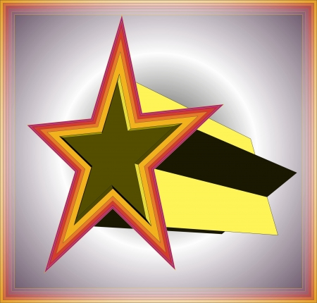 3d star Stock Vector - 16954835