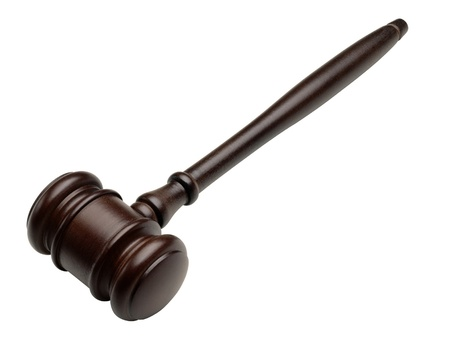 Gavel over white background Stock Photo - 17219326