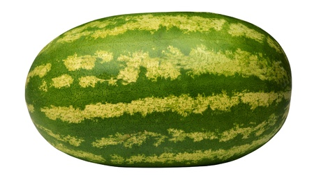 Ripe large watermelon isolated  Stock Photo