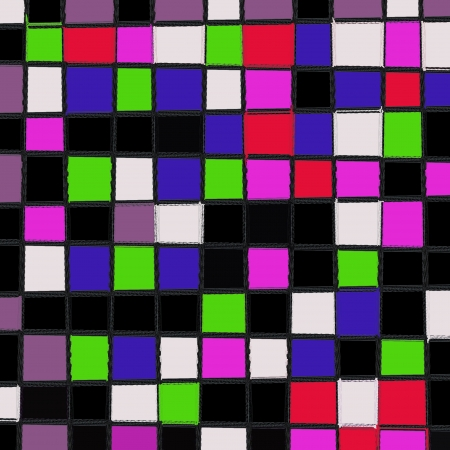 grid of stained glass background patterns colors photo