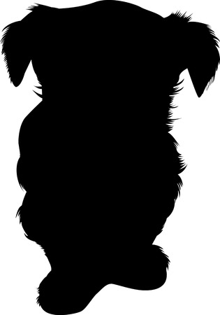 Silhouette of a dog Illustration