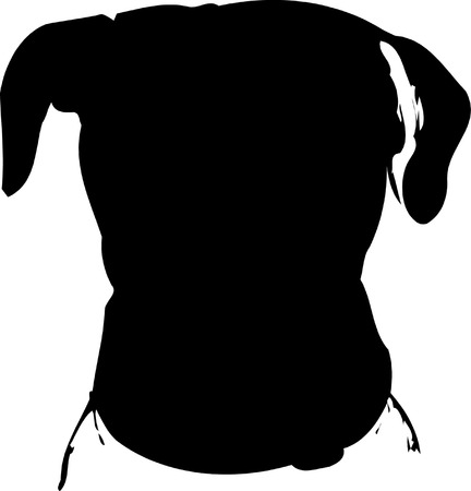jack russel: Dog silhouette