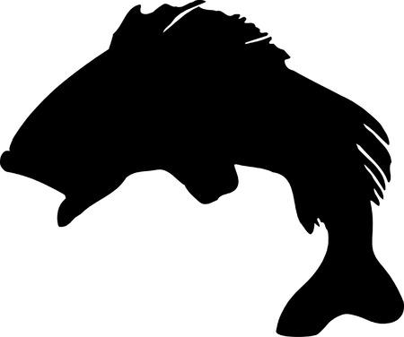 arowana: Fish Silhouette.