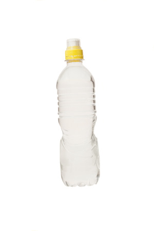 bottle of water with small bubbles inside
