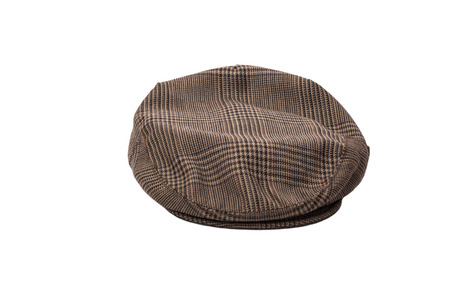Wool tweed men s cap isolated on white background  photo