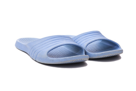 Summer shoes isolated on the white  Stock Photo