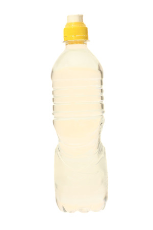 bottle of water with small bubbles inside  Stock Photo