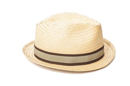Straw Hat isolated on white  photo