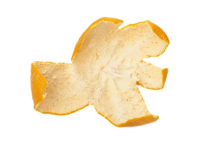 tangerine peel: Tangerine peel isolated on white  Stock Photo