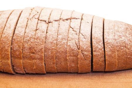 Bread on wood board