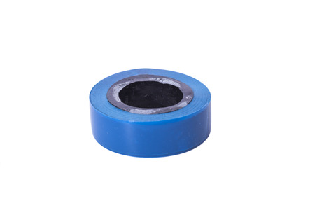Blue electrical insulating tape Stock Photo
